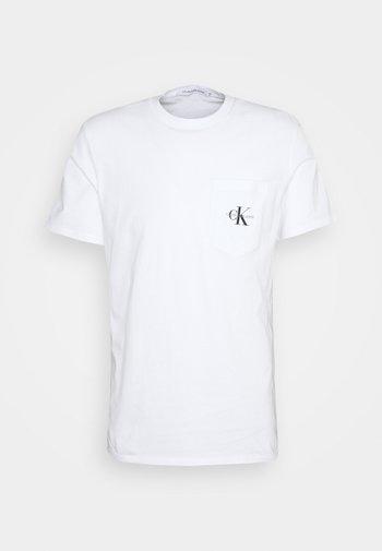MONOGRAM POCKET TEE - T-shirt med print - bright white