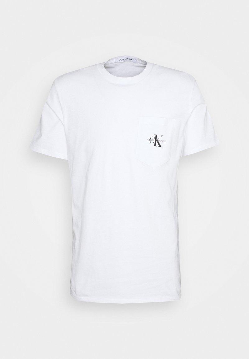 Calvin Klein Jeans - MONOGRAM POCKET TEE - T-shirt med print - bright white