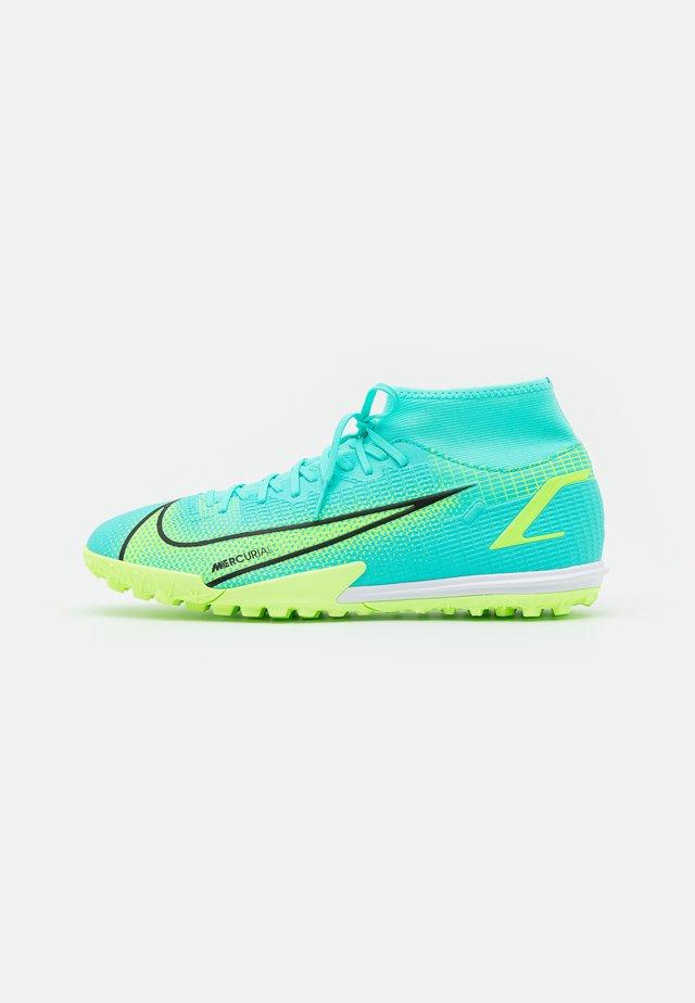 MERCURIAL 8 ACADEMY TF - Voetbalschoenen voor kunstgras - dynamic turquoise/lime glow