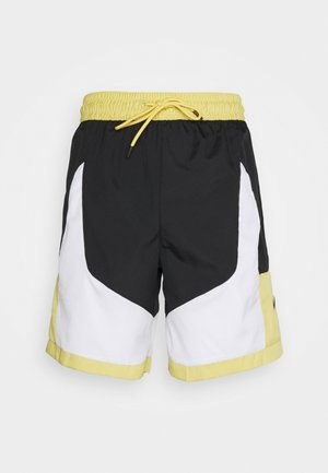 THROWBACK SHORT NARRATIVE - Pantalón corto de deporte - black/white/saturn gold