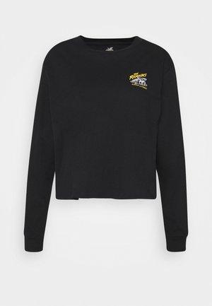 B SIDE CROP - Camiseta de manga larga - black