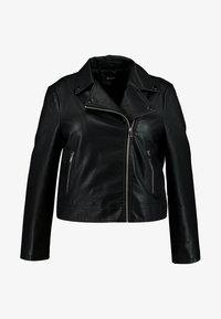 Even&Odd Curvy - Faux leather jacket - black - 3