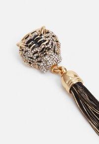 ALDO - ISTOKPOGA - Earrings - black and clear on gold-coloured - 2