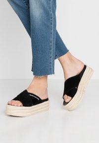 Calvin Klein Jeans - FERNANDA - Heeled mules - black - 0