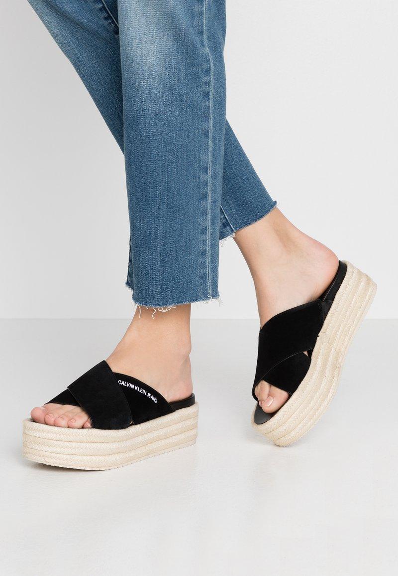 Calvin Klein Jeans - FERNANDA - Heeled mules - black