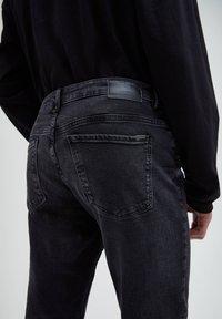 PULL&BEAR - Jeans slim fit - black denim - 4