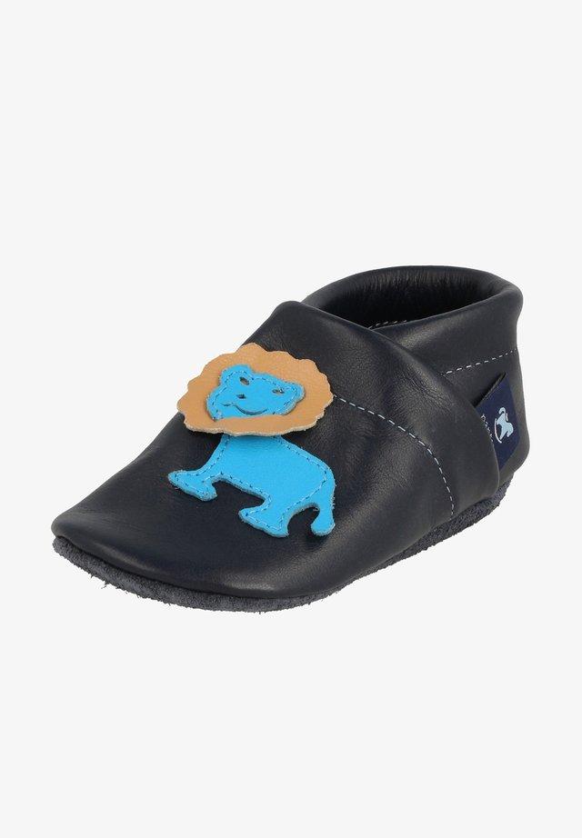 LÖWE - First shoes - blau / hellblau / apricot