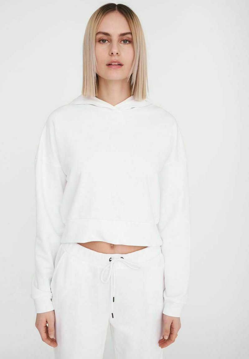 Noisy May - NMLUPA  - Felpa con cappuccio - bright white