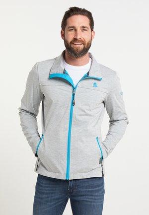 Outdoor jacket - hellgrau mel blau