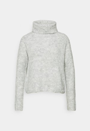 ONLOLIVIA LOOSE ROLLNECK  - Svetr - light grey melange