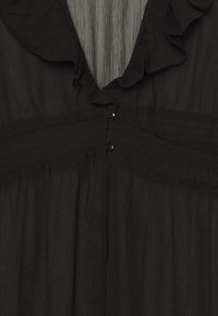 Simply Be - RUFFLE FRONT KIMONO - Lett jakke - black - 2