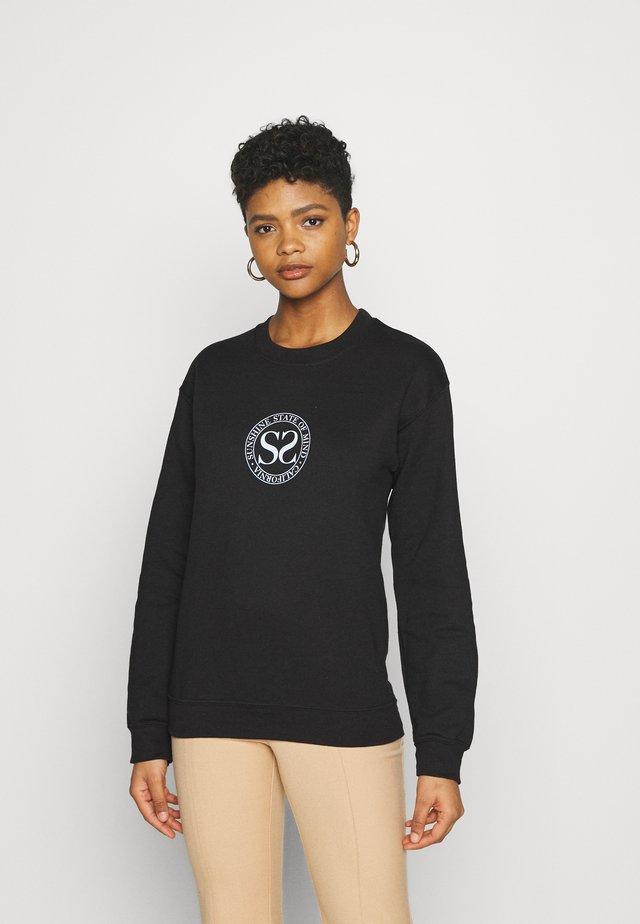 SPORTY CIRCLE - Sweater - black