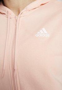 adidas Performance - ENERGIZE SPORTS SLIM TRACKSUIT - Tracksuit - glow pink/medium grey heather/white - 8