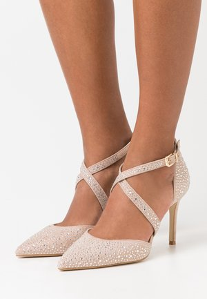 LEATHER - High Heel Pumps - beige