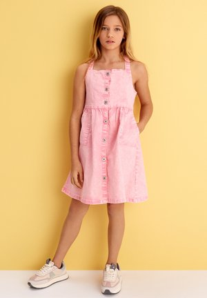 Denim dress - light pink