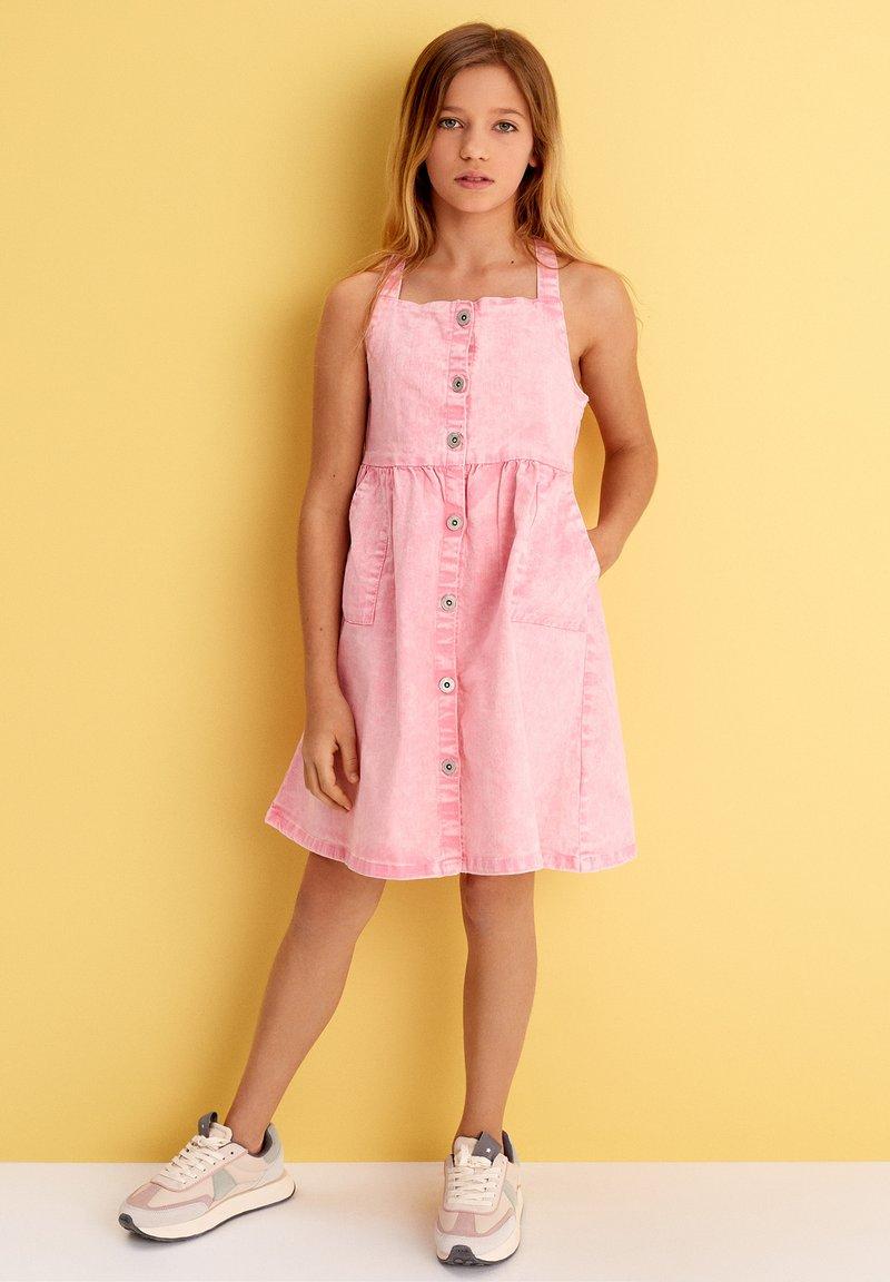 MINOTI - Vestido vaquero - light pink