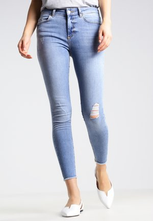 PCFIVE DELLY - Jeans Skinny Fit - light blue denim