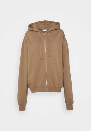 BOYFRIEND ZIP HOODIE - Collegetakki - putty
