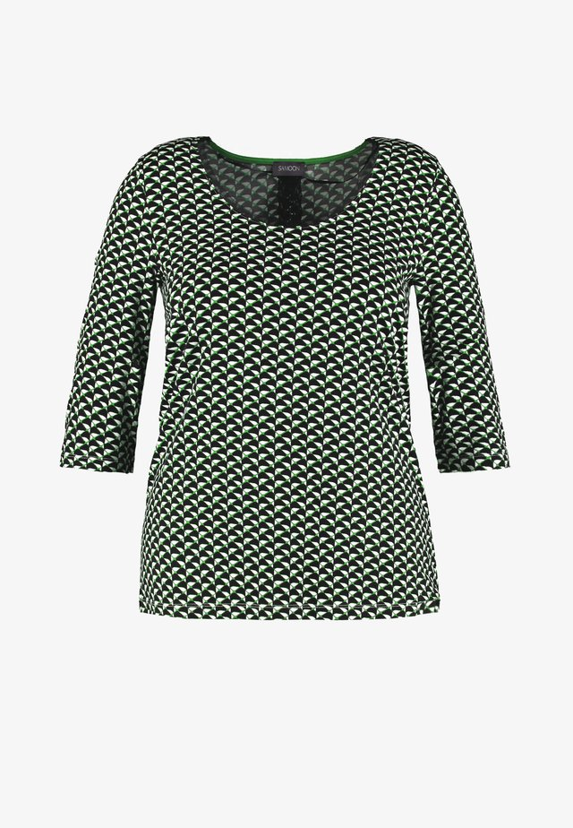 Blouse - black gemustert
