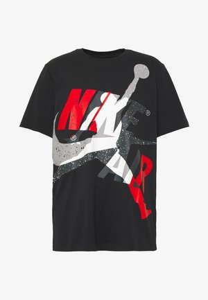 SS CTN JM CLASSICS - Print T-shirt - black/white/gym red