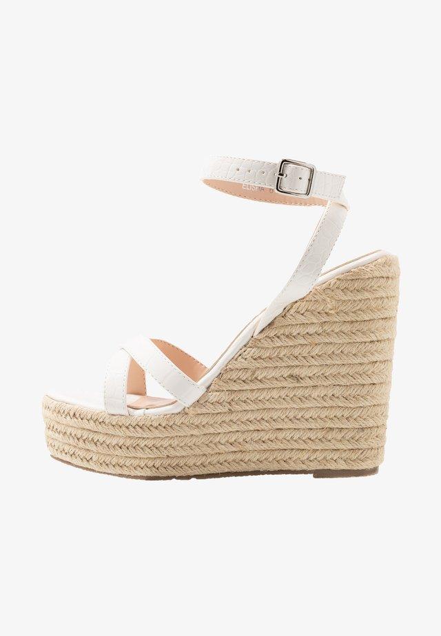 ELISHA - Højhælede sandaletter / Højhælede sandaler - white