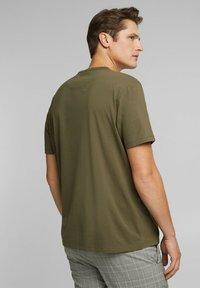 Esprit Collection - MIT COOLMAX - Basic T-shirt - dark khaki - 2