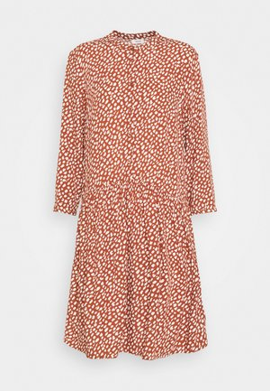 DRESS - Blousejurk - multi/cinnamon brown