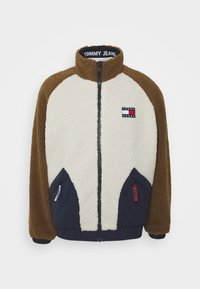 Tommy Jeans - REVERSIBLE RETRO JACKET - Veste mi-saison - light silt/multi - 5