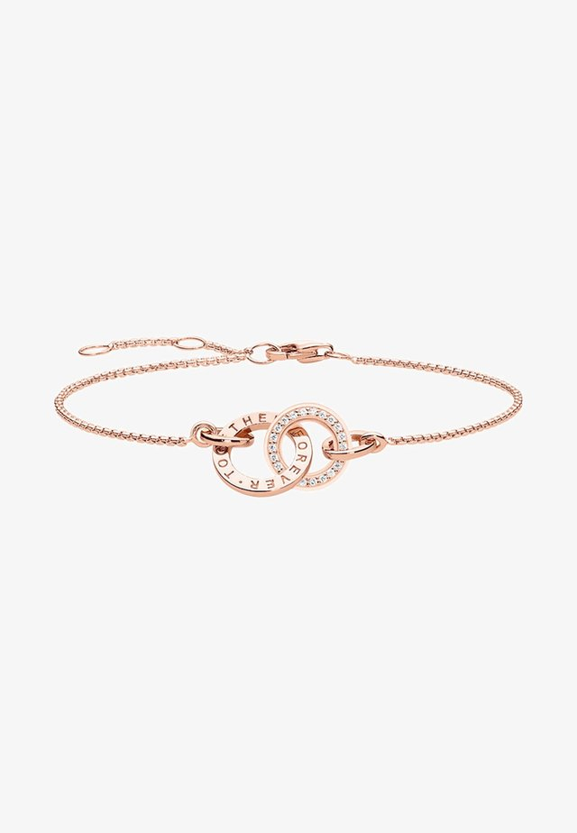 FOREVER TOGETHER - Armband - rosegold coloured,white