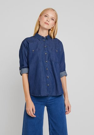 BLOUSE - Chemisier - blue denim