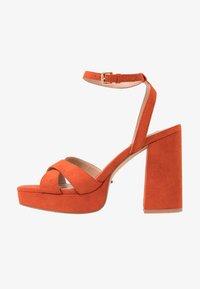 ONLY SHOES - Sandály na vysokém podpatku - orange - 1