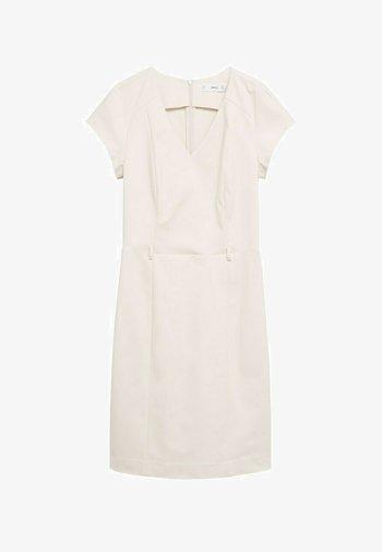 COFI7-A - Pouzdrové šaty - open beige
