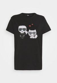KARL LAGERFELD - PIXEL CHOUPETTE - T-shirt con stampa - black - 8