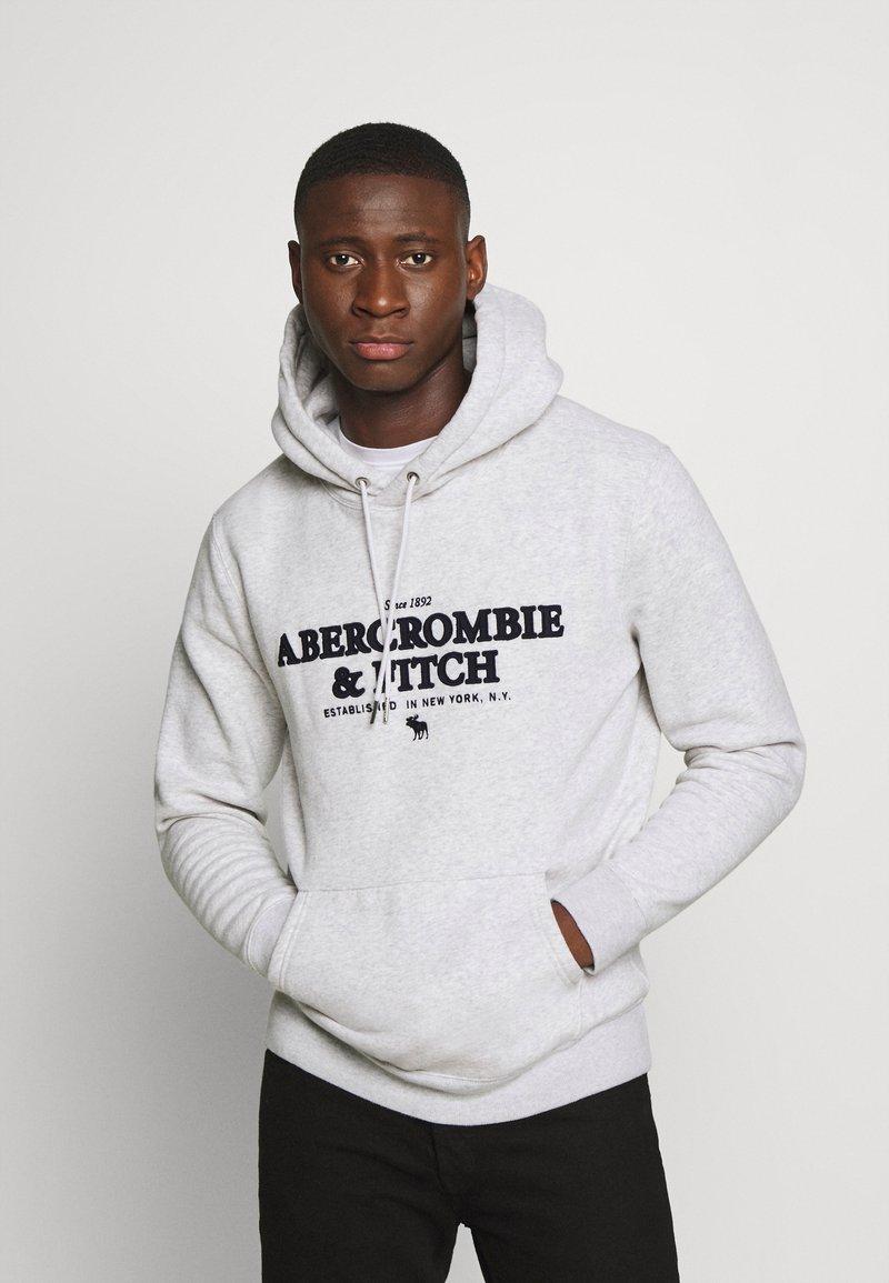 Abercrombie & Fitch - LOGOCON APPLIQUE - Hoodie - grey heather