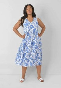 Live Unlimited London - FLORAL - Day dress - blue, white - 0