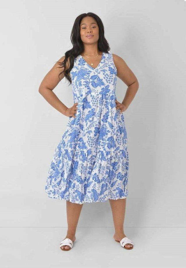 FLORAL - Robe d'été - blue, white