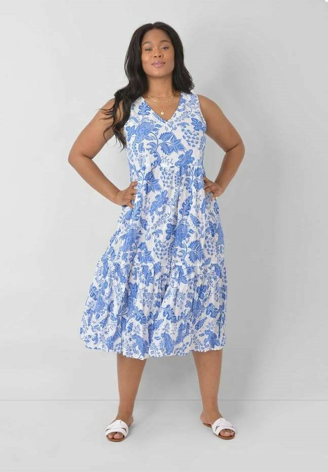 Live Unlimited London - FLORAL - Day dress - blue, white