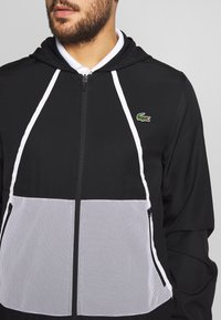 Lacoste Sport - TRACKSUIT HOODED - Tracksuit - black/white - 8