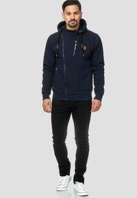 INDICODE JEANS - ELM - Zip-up hoodie - navy - 1