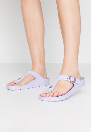 GIZEH - T-bar sandals - purple fog