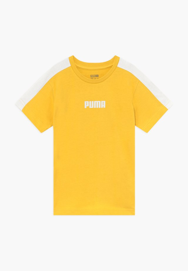 PUMA X ZALANDO LOGO TEE - Print T-shirt - ceylon yellow