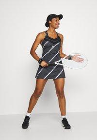 Nike Performance - DRESS - Sports dress - black/white - 1