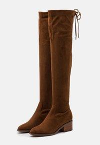 Steve Madden - GERARDINE - Overknee laarzen - brown - 2