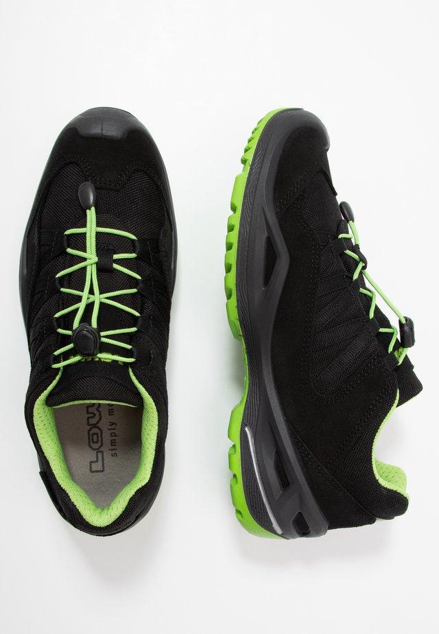ROBINGTX - Hiking shoes - schwarz/limone