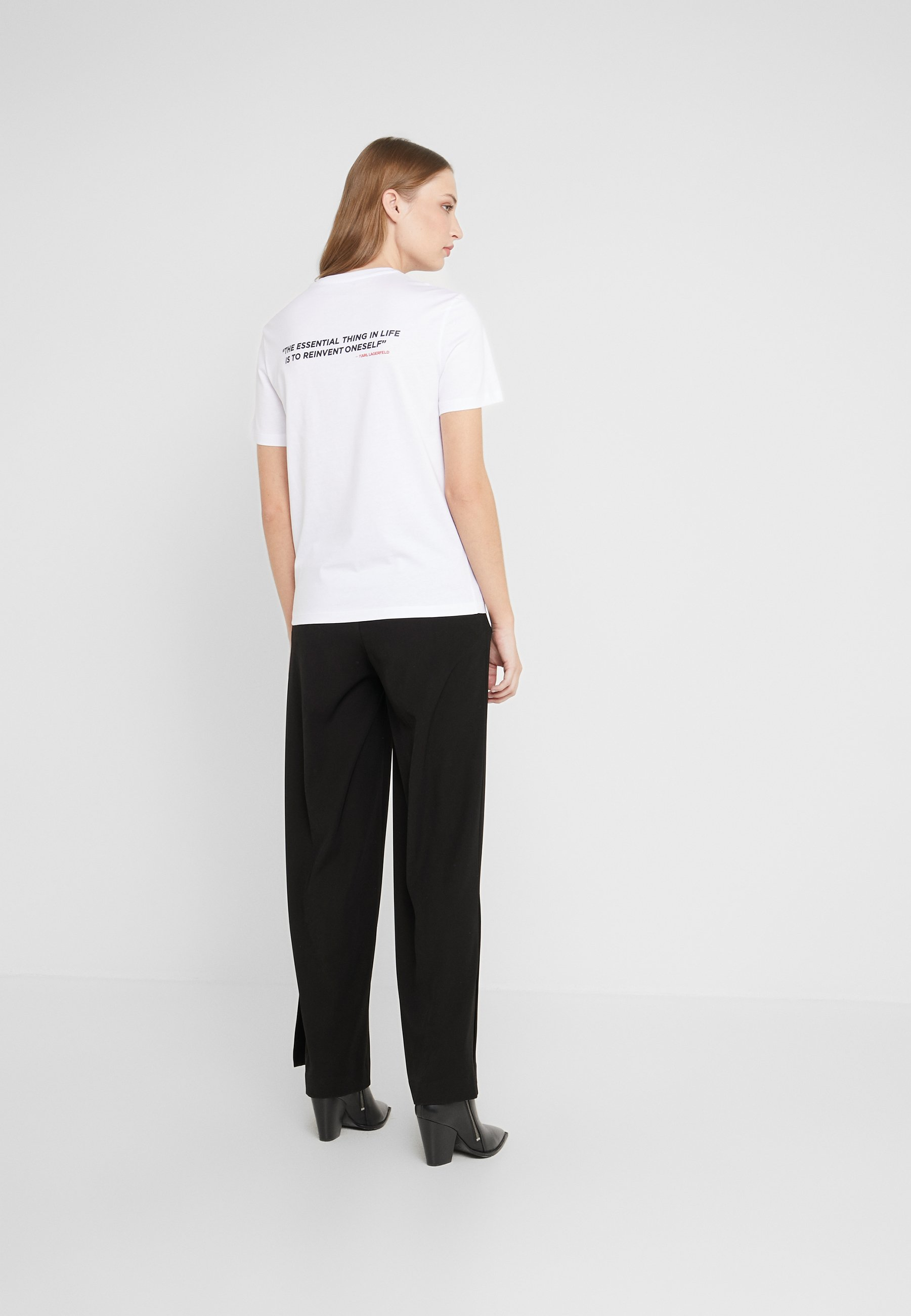 KARL LAGERFELD LEGEND POCKET TEE - T-shirts med print - white