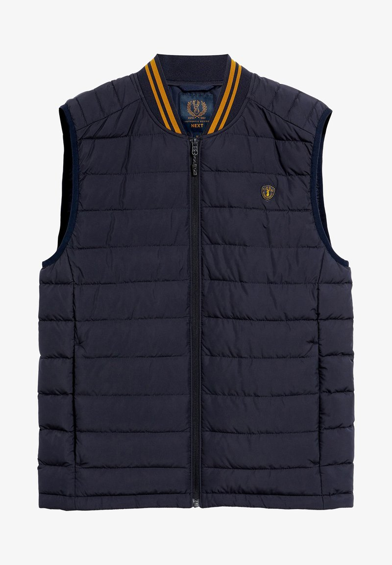 Next - SHOWER RESISTANT TIPPED - Waistcoat - blue