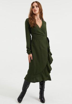 MET VOLANT. - Day dress - dark green