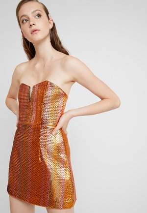ELECTRIC NIGHTS MINI DRESS - Robe de soirée - copper