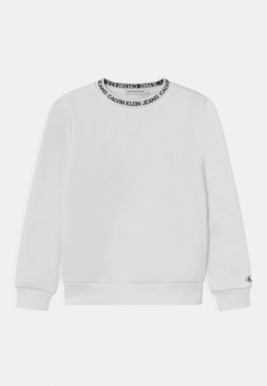 INTARSIA LOGO UNISEX - Sweatshirt - bright white