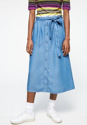 ELAARA - Denim skirt - blue